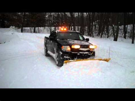 ford  fx plowing snow fisher ht snow plow youtube