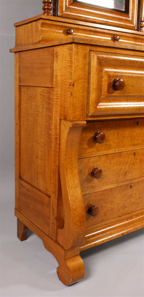 lot 187 early empire tiger maple cherry dresser