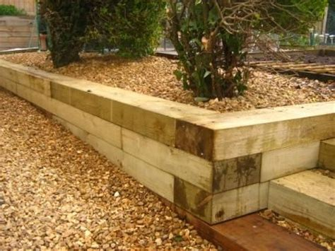 Retaining Walls Landscape Timbers And Garden Steps On Treated Pine Sleepers Vegetable Garden