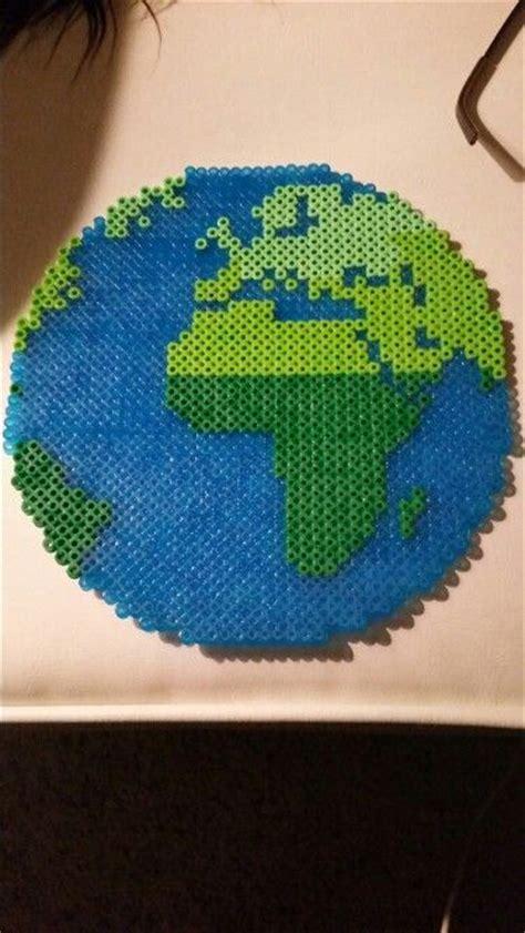 planet bead planet earth perler bead perler perler