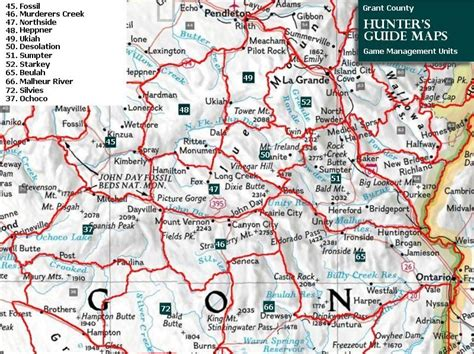map of oregon units maps grant county chamber of commerce oregon