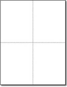 Postcard Template 4 Per Page by 4 Up Postcards 65lb White Postcards Desktop Supplies