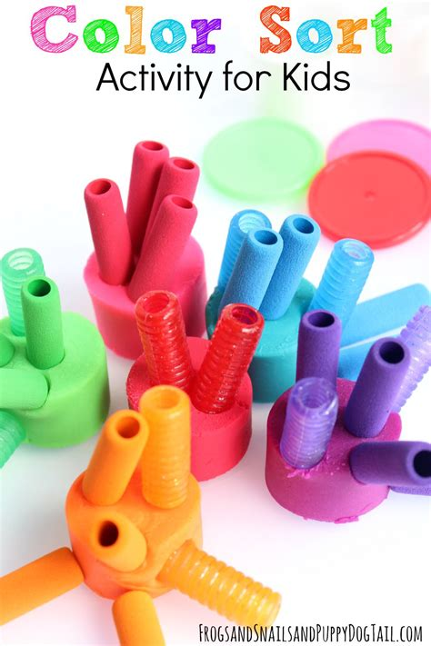 Color Sort Busy Activity For Children 365 Days Of Crafts - color sort activity for fspdt