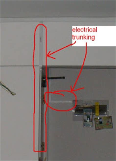 concealed electrical wiring necessary to exposed electrical trunking for l box