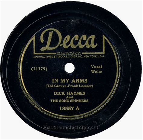 my in arms in my arms by haymes and the song spinners 1943