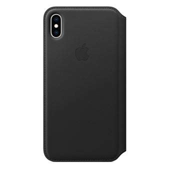 apple iphone xs max leather folio black fnac be hoesje voor mobiele telefoon
