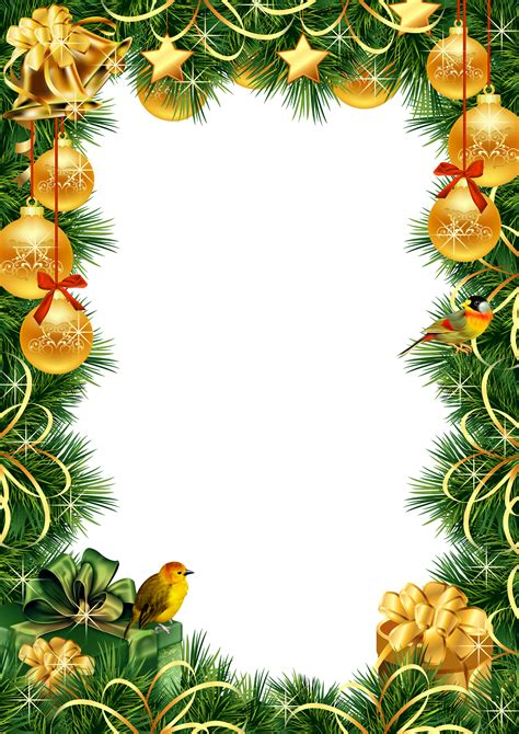 printable christmas ornament picture frames christmas transparent png photo frame with gold christmas
