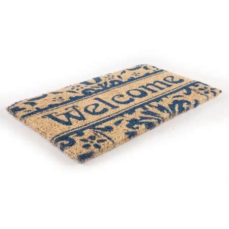 Fiber Doormat by Entryways Damask Welcome Woven Coconut Fiber Door Mat