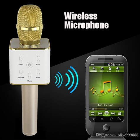 Wireless Microphone Android 9 mini wireless microphone q7 home ktv karaoke player handheld bluetooth speaker stereo support
