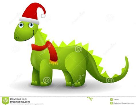 dinosaur in santa hat stock illustration image of