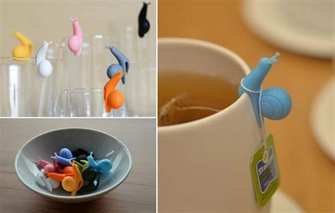silicone snail wineglass label  teabag holder