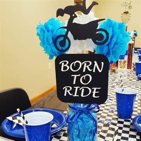 Bike For Baby Shower by Dirtbike Centerpieces My Baby Shower