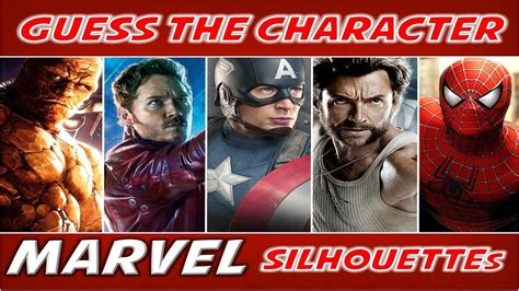 marvel film quiz guess the character quot marvel quot by silhouette movie quiz