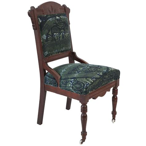 African Print Upholstery Fabric Vintage Eastlake Chair Upholstered In African Print Fabric