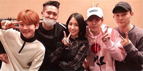 exo cbx cry exo cbx show support for boa by attending her concert in