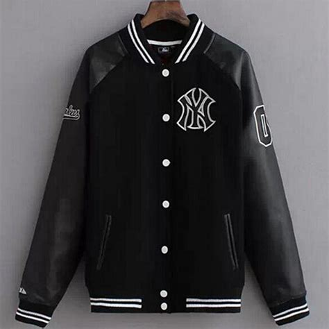 design college jacket 2016 fashion design college baseball jacket men black