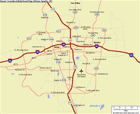 map of reno nevada vacations travel map holiday
