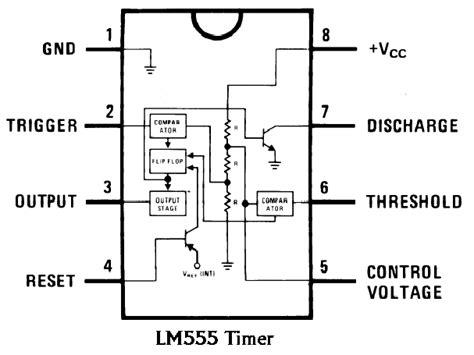 555 chip diagram modern electronics