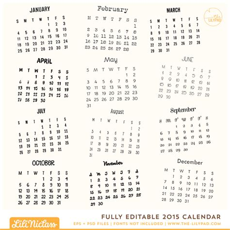17 2015 calendar template editable images 2015 monthly