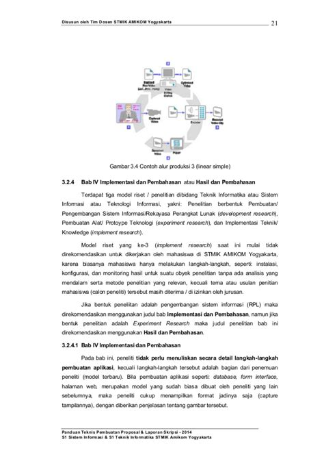 format skripsi amikom 2015 panduan teknis pembuatan proposal laporan skripsi
