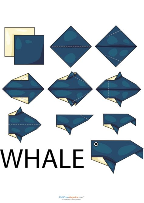 How To Make A Whale Origami - easy origami whale 2 kidspressmagazine