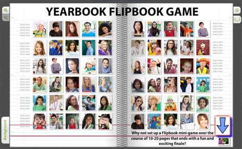 interactive yearbook page ideas with qr video code