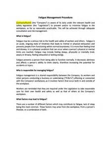 hr advance fatigue management procedure