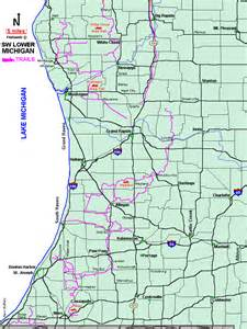 Michigan Snowmobile Trail Map by Michigan Snowmobiling Southwest Lower Peninsula Snowmobile