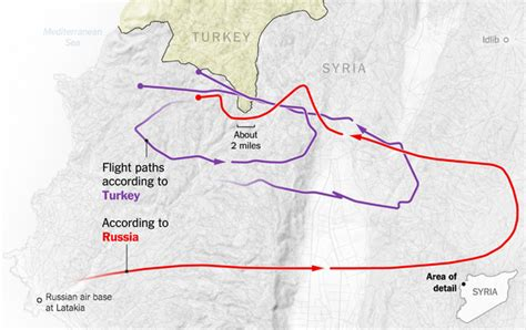 russia turkey map sorting out what russia and turkey say happened in the sky