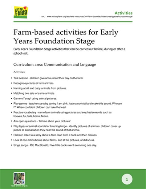 new year teaching ideas foundation stage farm based activities for early years foundation stage by