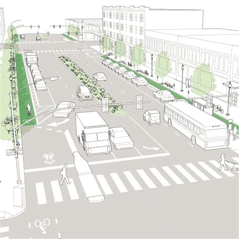 downtown design guidelines knoxville downtown thoroughfare national association of city