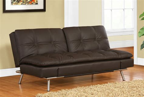 bruno black leather convertible sofa bed sofa beds