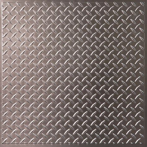 Metal Ceiling Tiles Home Depot by Ceilume Plate Faux Tin Ceiling Tile 2 X 2