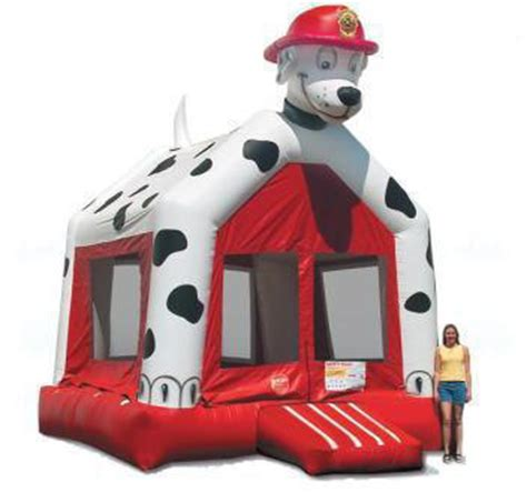 firehouse dog house inflatable rentals bounces slides obstacle courses sports interactives