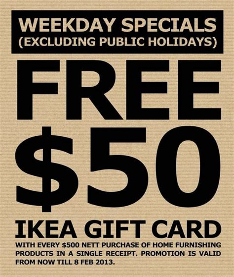 Ikea Gift Card Giveaway - ikea 50 gift card giveaway till 8 feb 2013 singapore great deals