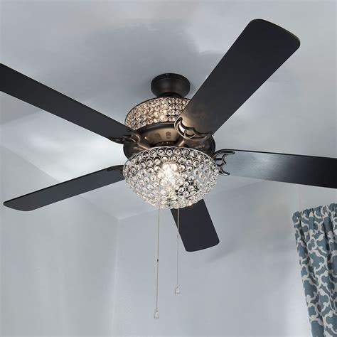 river of goods ceiling fan style at home with margie 52 quot double lit crystal glass