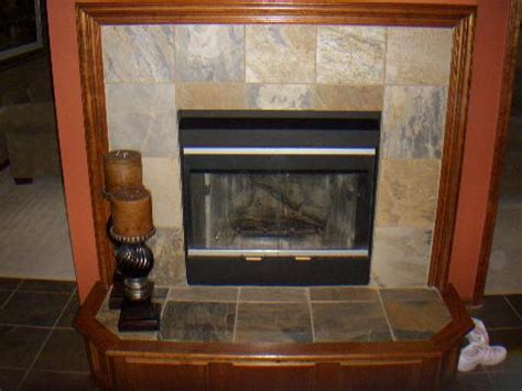 Fireplace With Slate Tile Surround by Other Projects Rasmus Custom Design And Remodeling Inc