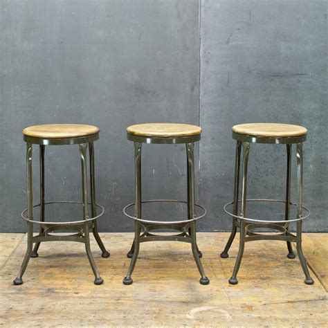 Garage Bar Stools by Vintage Industrial Toledo Metal Workshop Garage Bar