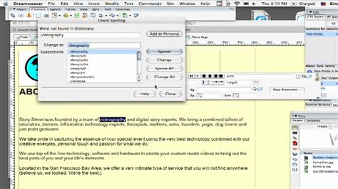 dreamweaver tutorial magyar dreamweaver tutorial how to spell check a web page with