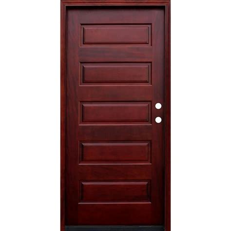 5 Panel Wood Door by 5 Panel Stained Wood Mahogany Entry Door With
