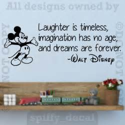 Disney Quote Wall Stickers Disney Mickey Laughter Imagination Dreams Forever Wall