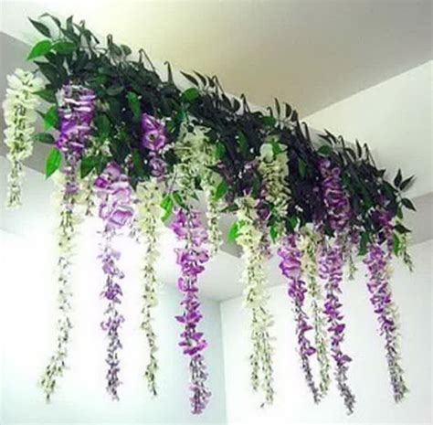 in home decorating wisteria flowers and gifts 10pcs lot artificial silk wisteria hanging flowers plant