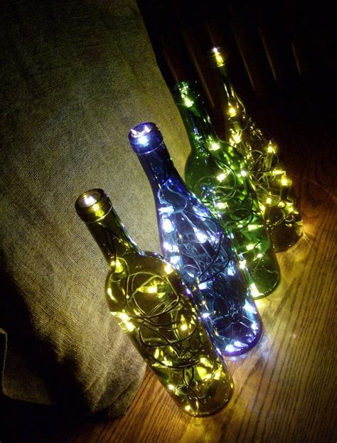 lights that don t need electricity 4 illuminated bouquet collection lighted glass wine