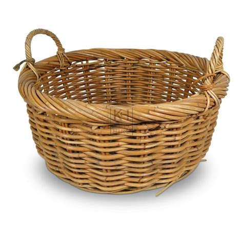 rattan baskets prop hire 187 baskets 187 2 handle woven wicker basket