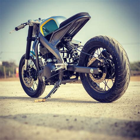 Modification Bikes In India by Tony535 Royal Enfield Into Yamaha Delta Box Frame