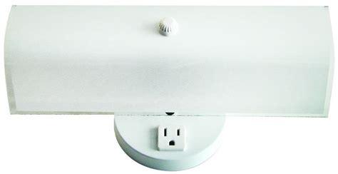 bathroom light with plug bathroom light with outlet plug