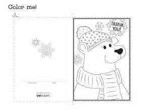 printable cards to color polar thank you card free printable