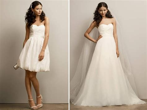 convertible wedding dresses 2 in 1 budget friendly bridal