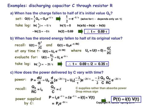 capacitor with no initial charge a capacitor with initial charge q0 at t 0 acts as 28 images lecture 10 capacitance and