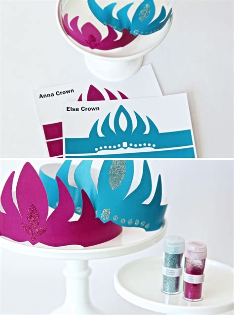 free frozen crowns printable party invitations ideas